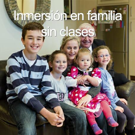 inmersion familia sin clases - Cursos de verano para menores