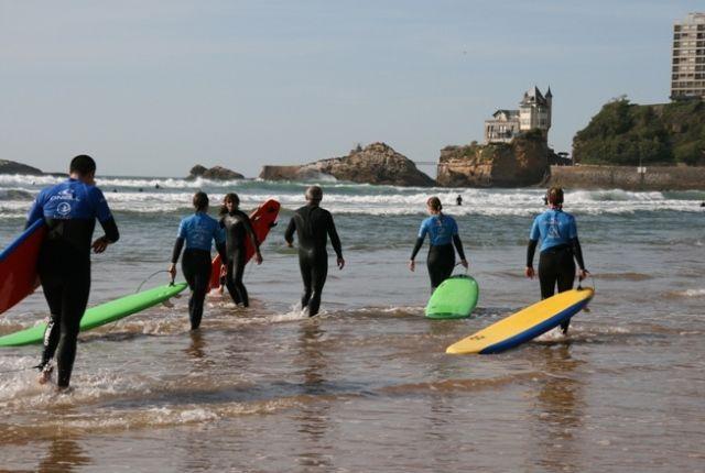 cursos frances biarritz surf - Biarritz