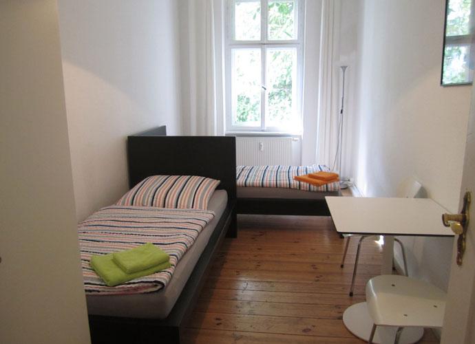 dormitorio del piso compartido