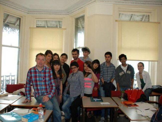 estudiantes en Ramsgate Inglaterra