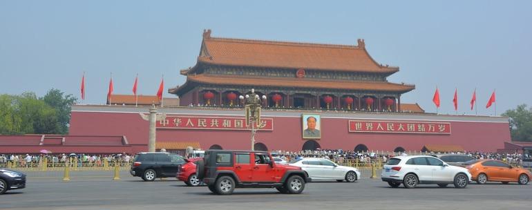 estudiantes en Pekín