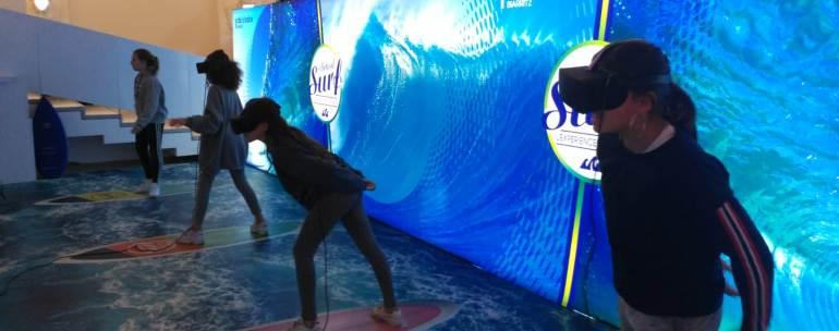 realidad virtual en el acuario de Biarritz