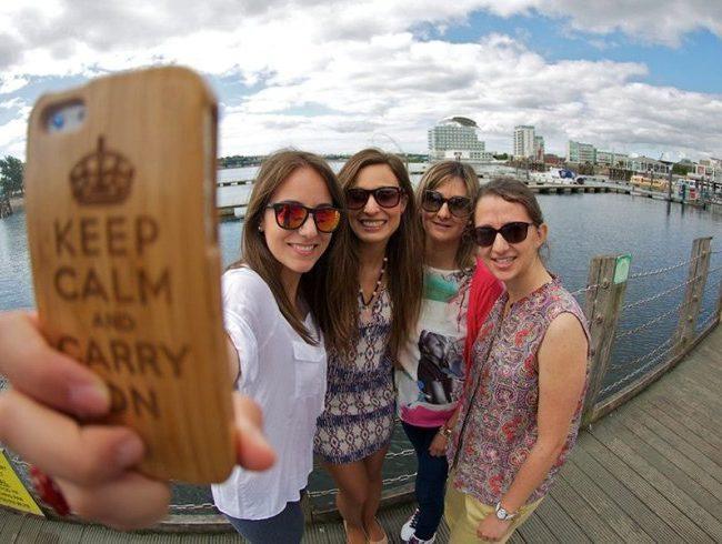 selfie en Cardiff