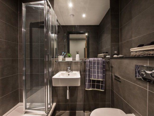 baño alojamiento Cardiff